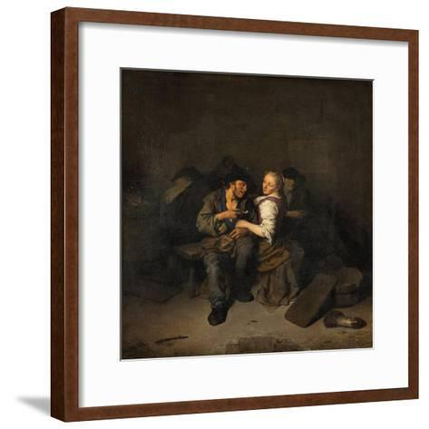 Young Couple in a Tavern, 1661-Cornelis Bega-Framed Art Print