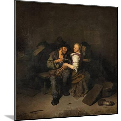 Young Couple in a Tavern, 1661-Cornelis Bega-Mounted Giclee Print