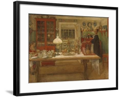 Getting Ready for a Game, 1901-Carl Larsson-Framed Art Print