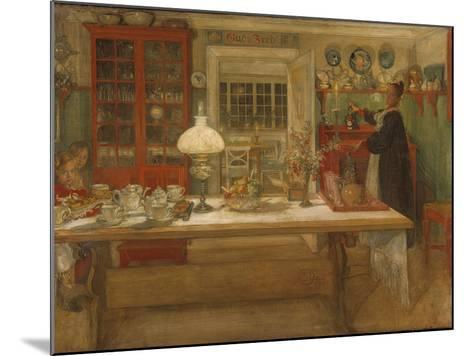 Getting Ready for a Game, 1901-Carl Larsson-Mounted Giclee Print