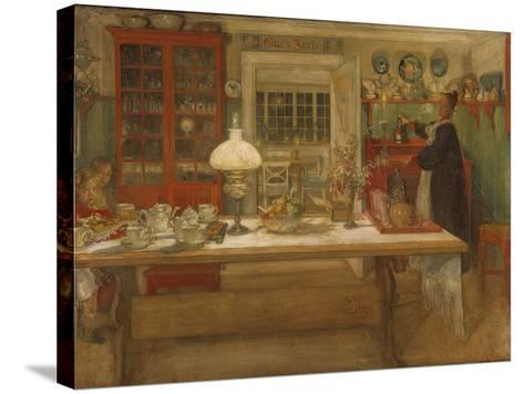 Getting Ready for a Game, 1901-Carl Larsson-Stretched Canvas Print