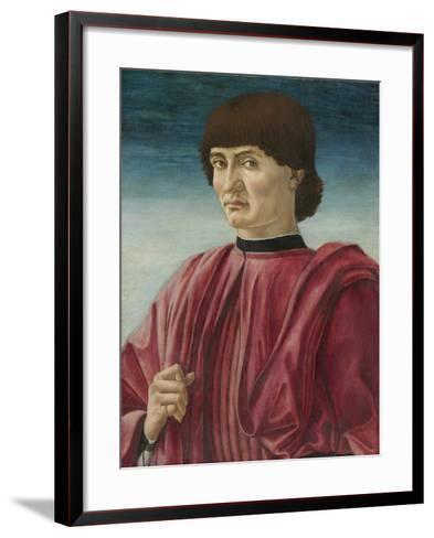 Portrait of a Man, c.1450-Andrea Del Castagno-Framed Art Print