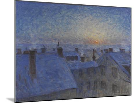 Sunrise over Stockholm Rooftops, 1903-Eugene Jansson-Mounted Giclee Print