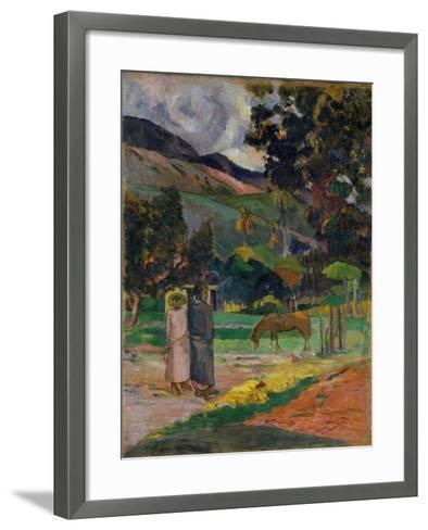Tahitian Landscape, 1892-Paul Gauguin-Framed Art Print