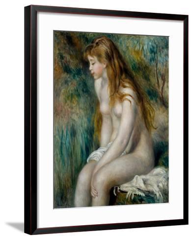 Young Girl Bathing, 1892-Pierre-Auguste Renoir-Framed Art Print