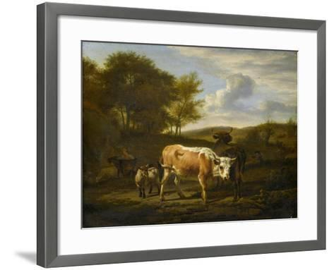 Mountainous Landscape with Cows, 1663-Adriaen van de Velde-Framed Art Print