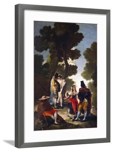 A Maja and Gallants, 1777-Francisco de Goya-Framed Art Print