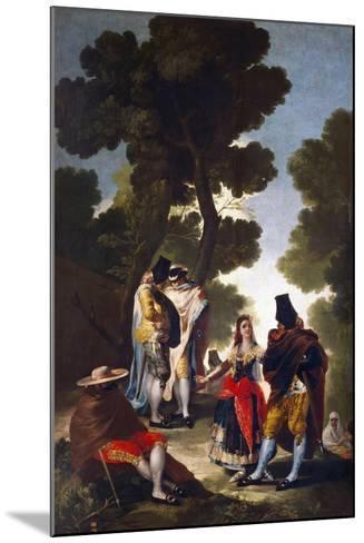 A Maja and Gallants, 1777-Francisco de Goya-Mounted Giclee Print