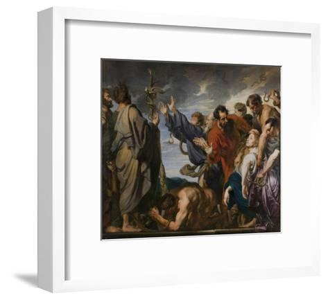 Moses and the Brazen Serpent, 1618-20-Anthony van Dyck-Framed Art Print