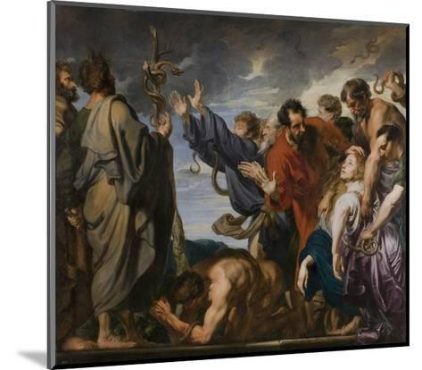 Moses and the Brazen Serpent, 1618-20-Anthony van Dyck-Mounted Giclee Print