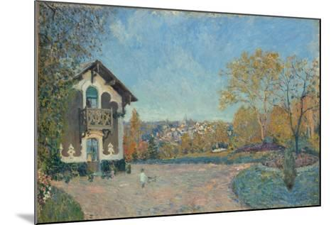 View of Marly-le-Roi from Coeur-Volant, 1876-Alfred Sisley-Mounted Giclee Print