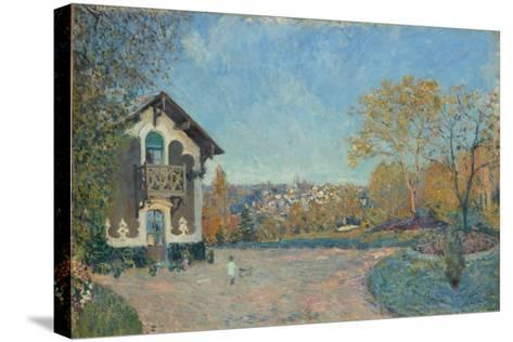 View of Marly-le-Roi from Coeur-Volant, 1876-Alfred Sisley-Stretched Canvas Print