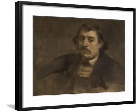 Portrait of Paul Gauguin, 1891-Eugene Carriere-Framed Art Print