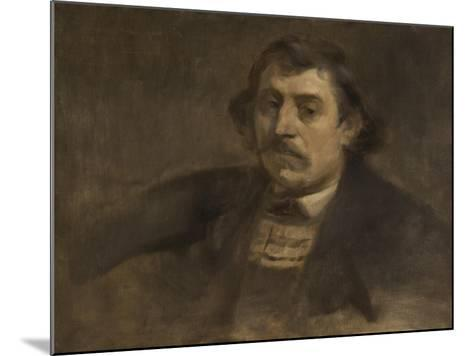Portrait of Paul Gauguin, 1891-Eugene Carriere-Mounted Giclee Print