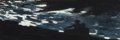 Moonlight on the Water, c.1906-Winslow Homer-Stretched Canvas Print