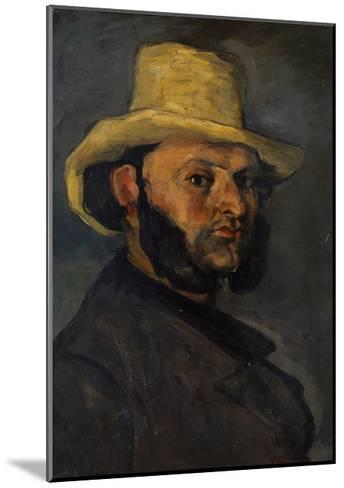 Gustave Boyer in a Straw Hat, 1870-71-Paul Cezanne-Mounted Giclee Print
