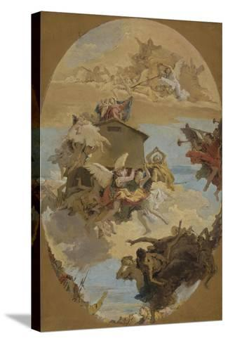 The Miracle of the Holy House of Loreto, 1743-Giovanni Battista Tiepolo-Stretched Canvas Print