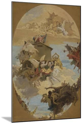 The Miracle of the Holy House of Loreto, 1743-Giovanni Battista Tiepolo-Mounted Giclee Print