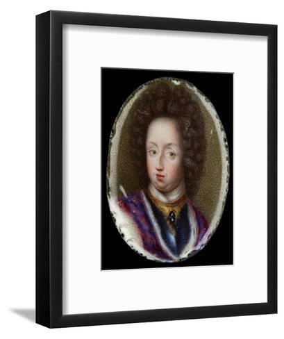 Miniature of Charles XI, King of Sweden, 1690-Erik Utterhielm-Framed Art Print