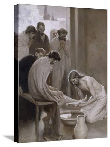 Jesus Washing the Feet of his Disciples, 1898-Albert Gustaf Aristides Edelfelt-Stretched Canvas Print