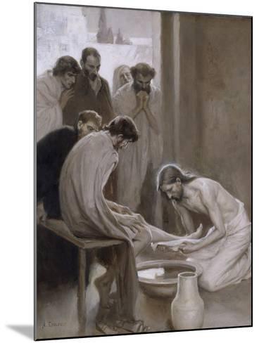 Jesus Washing the Feet of his Disciples, 1898-Albert Gustaf Aristides Edelfelt-Mounted Giclee Print