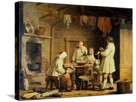 People from Mora in Dalecarlia, c.1800-Pehr Hillestrom-Stretched Canvas Print