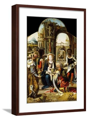 The Adoration of the Magi, 1530-Pieter Coecke van Aelst-Framed Art Print