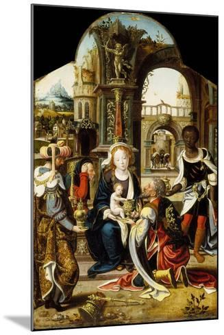 The Adoration of the Magi, 1530-Pieter Coecke van Aelst-Mounted Giclee Print