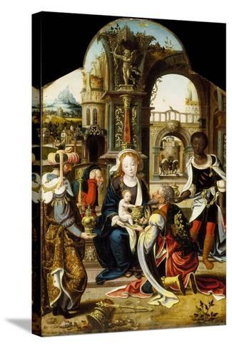 The Adoration of the Magi, 1530-Pieter Coecke van Aelst-Stretched Canvas Print