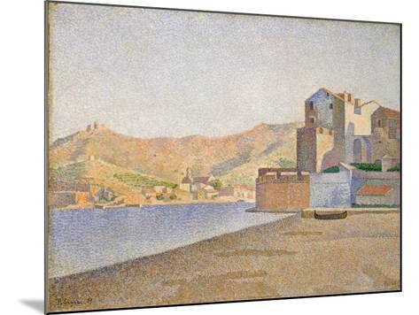 The Town Beach, Collioure, Opus 165, 1887-Paul Signac-Mounted Giclee Print