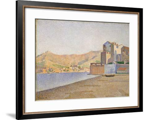 The Town Beach, Collioure, Opus 165, 1887-Paul Signac-Framed Art Print
