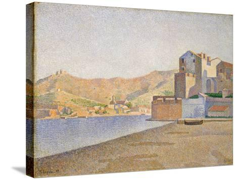 The Town Beach, Collioure, Opus 165, 1887-Paul Signac-Stretched Canvas Print
