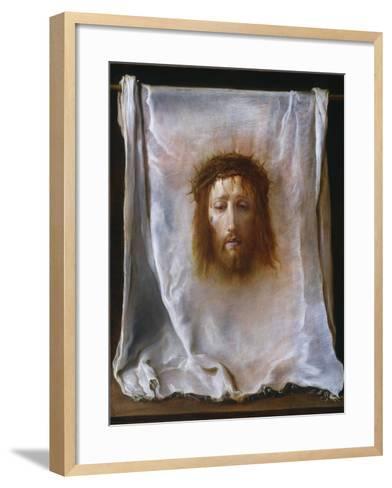 The Veil of Veronica, c.1618-22-Domenico Fetti or Feti-Framed Art Print