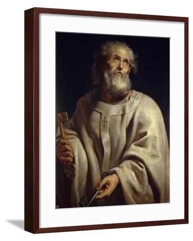 Saint Peter, c. 1611-Peter Paul Rubens-Framed Art Print