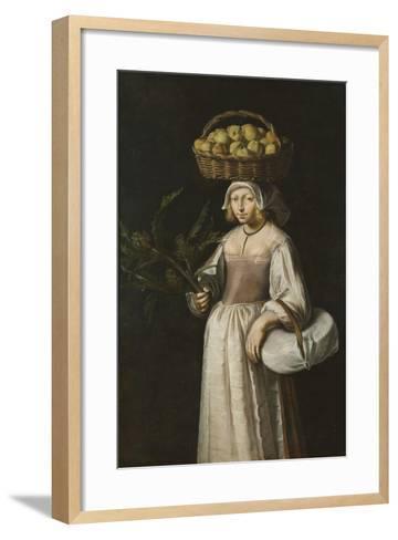 The Vegetable Seller-French School-Framed Art Print