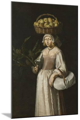The Vegetable Seller-French School-Mounted Giclee Print