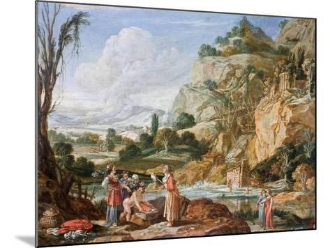 The Finding of Moses-Bartholomeus Breenbergh-Mounted Giclee Print