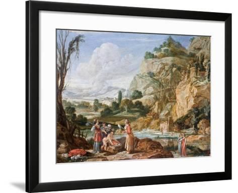 The Finding of Moses-Bartholomeus Breenbergh-Framed Art Print