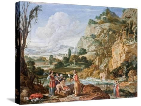The Finding of Moses-Bartholomeus Breenbergh-Stretched Canvas Print