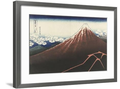 A Thunderstorm Below The Summit, c.1830-Katsushika Hokusai-Framed Art Print