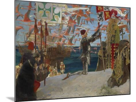 Columbus in the New World, 1906-Edwin Austin Abbey-Mounted Giclee Print