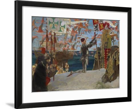 Columbus in the New World, 1906-Edwin Austin Abbey-Framed Art Print