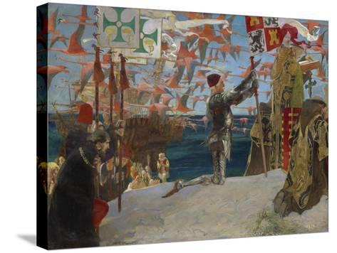 Columbus in the New World, 1906-Edwin Austin Abbey-Stretched Canvas Print