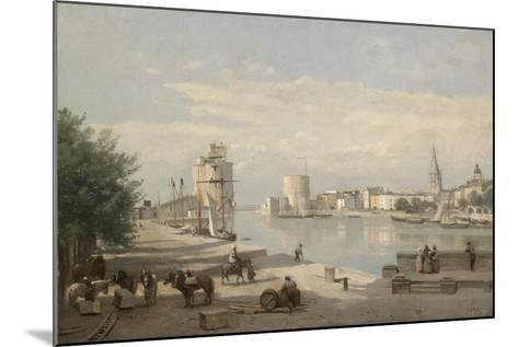 The Harbor of La Rochelle, 1851-Jean-Baptiste-Camille Corot-Mounted Giclee Print