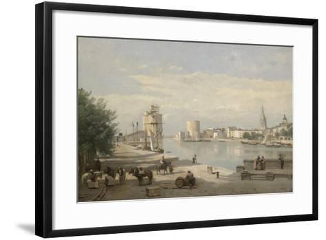 The Harbor of La Rochelle, 1851-Jean-Baptiste-Camille Corot-Framed Art Print