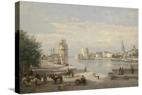 The Harbor of La Rochelle, 1851-Jean-Baptiste-Camille Corot-Stretched Canvas Print
