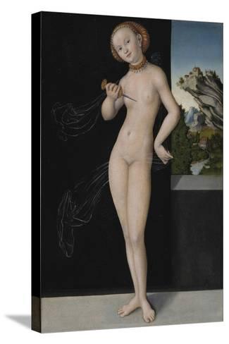 Portrait of Lucretia, 1528-Lucas, The Elder Cranach-Stretched Canvas Print