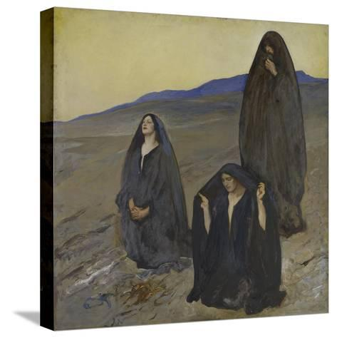 The Three Marys, c.1905-10-Edwin Austin Abbey-Stretched Canvas Print