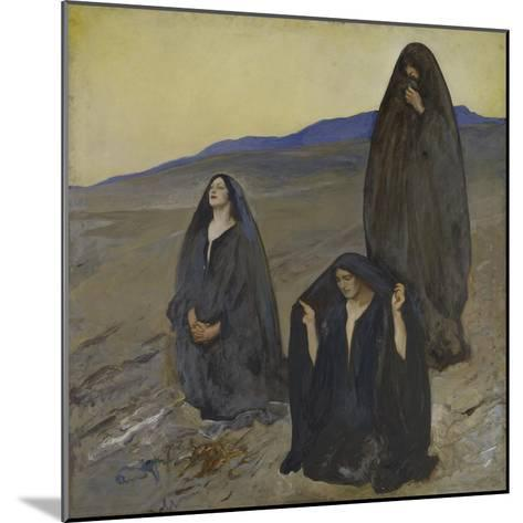 The Three Marys, c.1905-10-Edwin Austin Abbey-Mounted Giclee Print