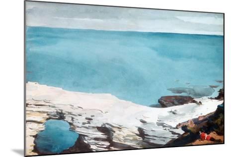Natural Bridge, Bermuda, c.1901-Winslow Homer-Mounted Giclee Print